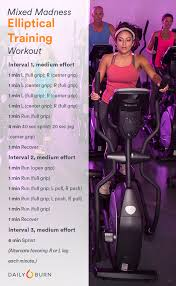 elliptical hiit workout mixed madness routine