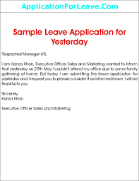 Leave Application Format For Office Enchanting 48 Job Leave Letter