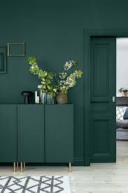 dark green wall inspiration via no