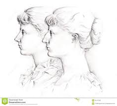 Profile Girls Stock Illustration Illustration Of Girl 36147389