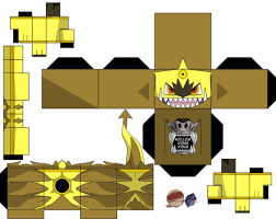 Hoopa Unbound Shiny Paper Toy Free Printable Papercraft