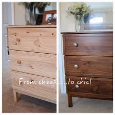 Staining Bedroom Furniture Simple Chic Ikea Tarva Makeover With Gel Stain Trim Mercury