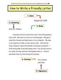Parts Of A Friendly Letter Handout | Writing | Pinterest | Friendly ...