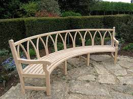 curved outdoor benches
