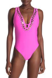 Athena Swimwear Size Chart Athena Hey There Plunge One Piece Swimsuit Hautelook