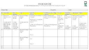 Project Management Issue Log Template 8 Project Management