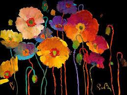 living life to the full simon bull flower poppy fl artwork painting art