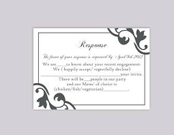 Rsvp Template Online Free Online Template Wedding W Menu Selections Rsvp Make