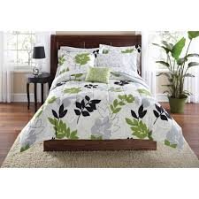 mainstays botanical leaf bag coordinated bedding set green queen size french bedroom furniture king sofa ikea