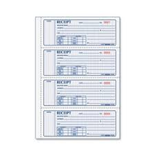 Rediform Money Receipt 4 Per Page Collection Forms Book Receipt 2pt 4 Per Page Multi Ea