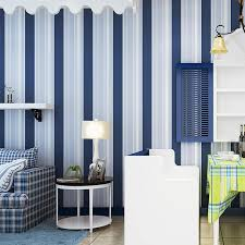 simple blue bedroom. Beibehang Wallpaper Simple Blue And White Vertical Stripes Background The Living Room Bedroom Children\u0027s E