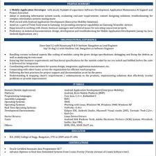 Android Developer Resume Sample Ios Developer Resume Naukri Fascinating Ios Developer Resume