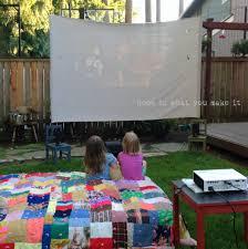 DIY Backyard Movie Night U2022 Little Miss MamaMovie Backyard