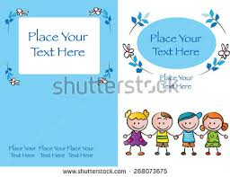 kids book cover design with blue background