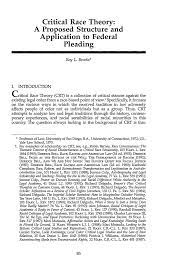 Critical Race Theory: A Proposed ...