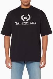 Shop Balenciaga Black Black Bb Logo T Shirt For Men Ounass Uae