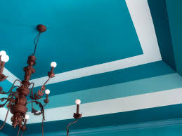 ceiling paint ideasTray Ceiling Ideas How to Paint Horizontal Stripes  HGTV