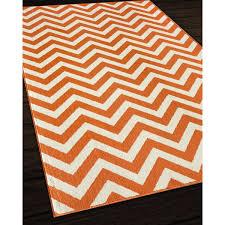 lovely orange chevron rug and white designs