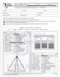 Man Basket Design Pdf Suspended Personnel Platform Inspection Checklist Boat