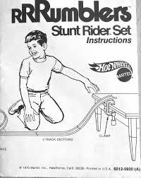 1971 hot wheels rrrumblers stunt rider set