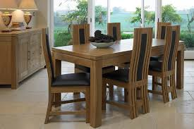 magnificent extendable oak dining table and 6 chairs 2373 on chair clean room loveable 11