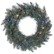 trim a home led pre lit christmas wreath with multi light 24