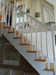 escalier blanc et bois bois pinterest escalier blanc