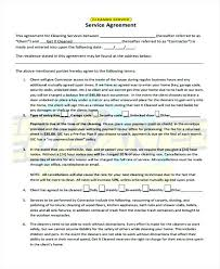 Cleaning Services Agreement Sample Contract Residential Template ...