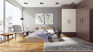 simple apartment bedroom decor. Simple Small Apartment Bedroom Decor With Modern Furniture And Wooden Flooring Also Gray Rugs E