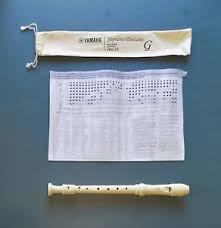 Details About Yamaha Yrs 23 Soprano Recorder Natural With Cloth Case And Finger Chart