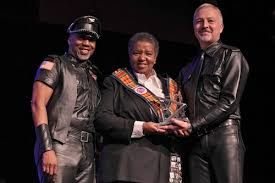 Viola Johnson receives the Leather Leadership Award at Creating Change -  National LGBTQ Task Force