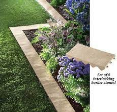 set of 8 snapping stone garden border