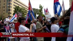 Thousands of SOS Cuba protesters march ...