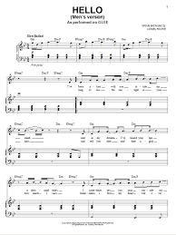 hello free piano sheet music hello sheet music direct