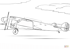 Amelia Earhart Airplane coloring page | Free Printable Coloring Pages