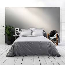 400tc luxury silver grey bedding set