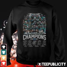 Philadelphia Eagles Sweater With Lights Official Philadelphia Eagles Nfc East Division Champions 2019 Signatures Shirt