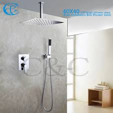 bathroom shower heads. 2018 Fashion Style Bathroom Rain Shower Set 16 Inch Ceil Mounted Heads With Easy Installation Embedded Box Valve 002v 16t 3k From T