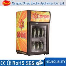 Glass Refrigerator Countertop Locking Glass Door Beverage Refrigerator Display Cooler