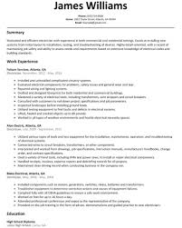 Electrician Resume Sample Resumelift Resume Templates