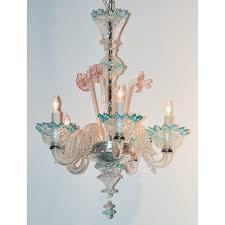 petite venetian murano crystal chandelier