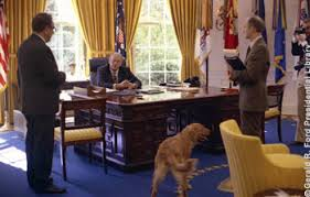 history of the oval office. president ford confers with secretary of state henry kissinger and national security advisor brent scowcroft in history the oval office 7