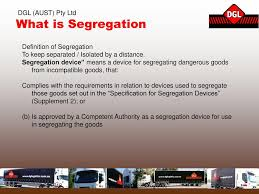 Segregation Of Dangerous Goods Storage Chart T 1070 Chemical Segregation Ppt Download