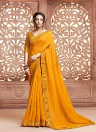 Designer Patches For Sarees Traditional Designer Saree Patch Border Satin Silk In Yellow