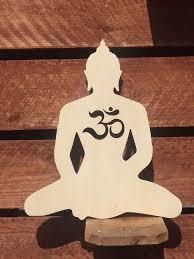 wood buddha om cutout