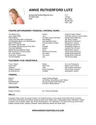 Resume With Accent Resume Annie Rutherford Lutz 89