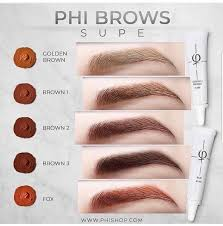 Phibrows Color Chart Phibrows Pigments Supe