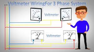 voltmeter wiring for 3 phase system 3 phase voltmeter installation jonyislam earthbondhon