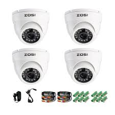 ZOSI 4 Pack 1 3 800TVL HD IR Cut CCTV Dome Home Security Cameras 1