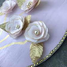 fl wall decor gold and pink flower wall decor gold paper pearl fl wall art fl wall decor stickers